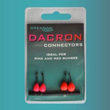 Drennan Dacron Connectors Pink & Red